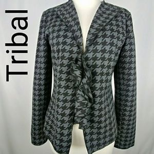 Tribal | Houndstooth Plaid Blazer